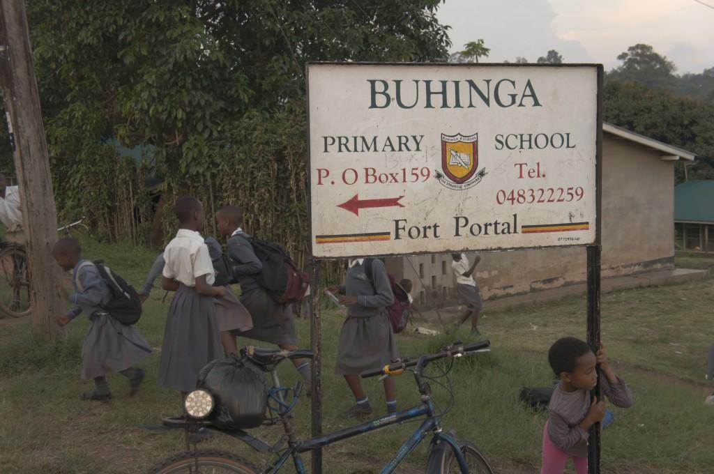 Buhinga School Sign